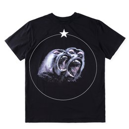 Wholesale Give Shirt - 2017 High Quality New Fashion Monkey Baboon Star Given Famous Luxury Tee T Shirts For Giv Men Women Cotton Free shipping