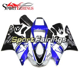 Wholesale 98 r1 blue fairings - Injection Fairings Kit For Yamaha YZF1000 YZF R1 98 99 1998 - 1999 ABS Fairings Motorcycle Full Fairing Cowlings Gloss White Blue Black Hull