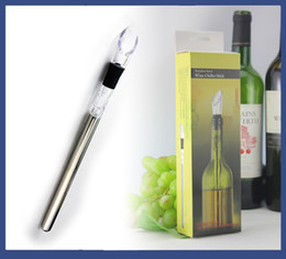 Wholesale Wedding Metal Favors - party favors wedding favors stainless steel wine chiller stick frozen Red Wine Accessories Tools barware bar tools