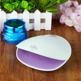 Wholesale Lighting Lamp Shell - 2017 New Mini Nail Dryer Shell Shape 6 LED Light Therapy Machine Nail Polish Lamp USB UV+LED Nail Art Tool 30s Quick Dry
