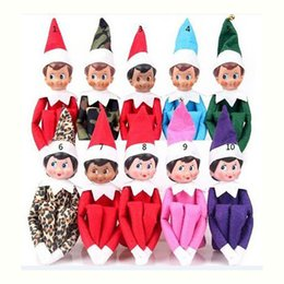 Wholesale Cloth Book Toy - 20 Style Christmas Elf Doll Plush toys Elves Xmas dolls and Books on the shelf For Kids Holiday Christmas Gift Free DHL XL-328