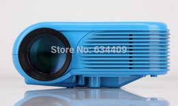 Wholesale Multimedia Player Hdmi Input - Wholesale-Blue!!! HX868 Projector charged by power bank With 2 USB HDMI Digital Video Game Projectors Multimedia player Inputs