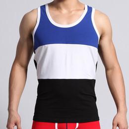Wholesale Yellow Striped Tank - Wholesale- Free shipping!brand SEOBEAN men's cotton stretch tank top men Sleeveless vest for boys bodybuilding undershirt wholesale