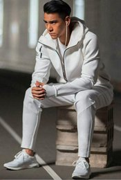Wholesale Ad Long - Hot Sale 2017 ad brand Men Spring Autumn Hoodie Jacket men Sportswear Clothes Windbreaker Coats sweatshirt tracksuit