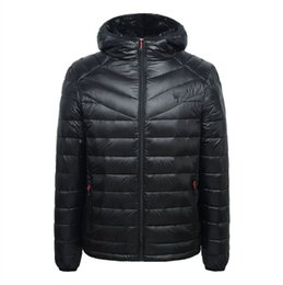 Wholesale Men Rivets Jacket - New Arrival Autumn And Winter Men's Down Jacket Solid Colors 90% White Duck Down Hooded Thick Clothing Male Casual Zipper Coats 1616