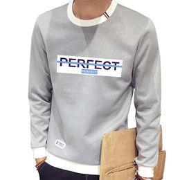 Wholesale Tracksuit Men Plus Size - Wholesale-M-3XL Plus Size Moleton Masculino Letter Print Hoodies for Men Fashion Sweatshirts Tops O Neck Autumn Tracksuits Slim Sweatshirt