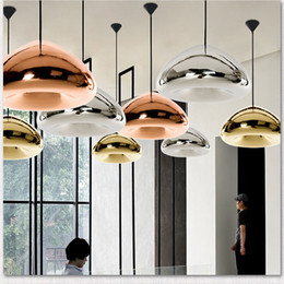 Wholesale Bronze Pipes - DHL Free shipping Tom Dixon Void Pendant Lamp Void Light Silver Bronze Gold Void Pendant Lamp Ceiling Light Fashion Chandelier Lamps