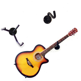 Wholesale Free Standing Electric - Wholesale- MoonEmbassy Electric Guitar Wall Hanger Slatwall Horizontal Acoustic Guitar Holder Bass Stand Rack Hook Free Shipping