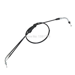 Wholesale Dirt Bike Brake Clutch Lever - Throttle Accelerator Cable Line For Yamaha PW 80 BW Assembly Dirt Pit Bike Kits Black Free Shipping