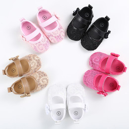 Wholesale Mary Jane Shoes For Girls - Wholesale- TongYouYuan New Brand Sweet Cute Baby Girls Infant Toddler Kids Bow-knot Soft Bottom Prewalker Ballet Mary Jane Shoes For Child