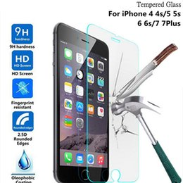 Wholesale Film Fronted Bags - Tempered Glass Film Screen Protector iPhone 7 i7 Plus 6 Plus Iphone 6S Plus I6 Galaxy s8 with OPP bag DHL