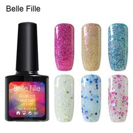 Wholesale Gel Fingernail Polish - Wholesale- Candy Colors UV Nail Gel Polish 10ml Bling glitter Varnish Lacquer Easy permanent manicure Nail Art as gift fingernail polish