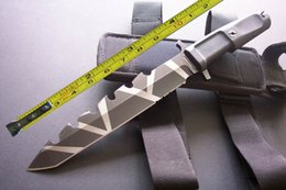 2019 couteau de poche LIVRAISON GRATUITE 13 '' Nouveau 8CR13 Lame Dos Cranté ABS Poignée Survie Bowie Chasse Couteau 009