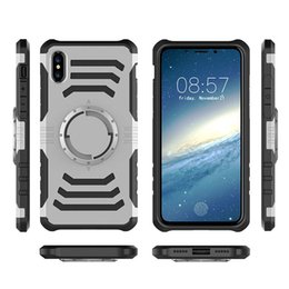 Wholesale Iphone Phone Sport Shell - for iPhone x 8 plus 7 7plus 6&6plus phone case running sport armband multi -purpose mobile phone shell TPU+PC Car magnet iphone case