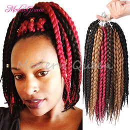 Wholesale Hairstyles Twists - Free Shipping Box Braids Hair Crochet 12'' Crochet Hair Extensions Synthetic Crochet Braid Senegalese Twist Braid Hair Jumbo Hairstyles