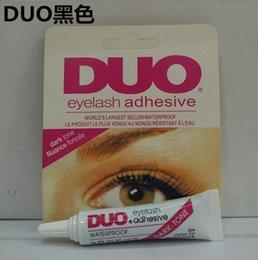 Wholesale Duo Eyelash Adhesive Glue - Adhesive DUO Eye Lash Glue False Eyelashes Clear White & black Makeup Adhesive WATER PROOF Eyelash Adhesive 9G Makeup Tools