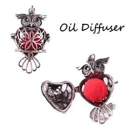 Wholesale Diffuser Kit - The Wisdom Essential Oil Diffuser Aromatherapy Necklace Pendant kit 2Pcs Essential Oil Lava Beads Aromatherapy Pendant C180S