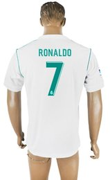 Wholesale Cheap Jerseys Wholesalers - 2017 18 Real Madrids #7 Ronaldo White Soccer Jerseys Newest Soccer Jerseys Cheap Discount Soccer Uniform Wholesale Ronaldo Wears