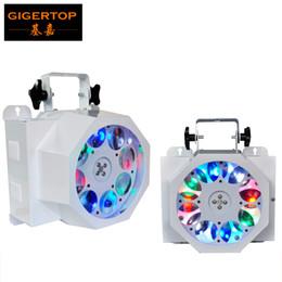 Wholesale Red Eye Usa - TIPTOP 2XLOT 8 Eye Stage Disco Gobo Led Effect Light White Color Aluminum Shell RGBW (2R,2G,2B,2W) Rotating Lens Wheel 90V-240V