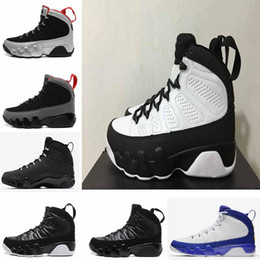 Wholesale blue statue - hot new 9 Anthracite black Copper Statue Baron Charcoal Johnny Kilroy blue Mens Basketball Shoes Cheap 9s IX Sneakers 7-13
