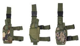 пистолетная кобура для ног Скидка 2017 Molle Открытый сумка для пакетов Разъединимый пояс Тактический чехол Сумка для кемпинга Пешеходная охотничья ножка для пистолета