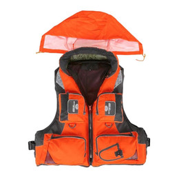 Wholesale Boating Vest - Wholesale- Professional Adult Life Jacket Fishing Polyester Adult Safety Life Jacket Survival Vest Swimming Boating Drifting Ski Foam Vest