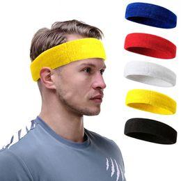 Wholesale Mens Head Bands - Hot Sale 16Colors Sports Yoga Gym Stretch Headband Head Band Hair Band Sweat Sweatband Mens Women Free Shipping