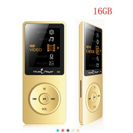 Wholesale Mp3 Game - Wholesale- New Arrive Ultrathin IQQ X02 16GB MP3 Player Speaker 1.8 Inch Screen Can Play 80 hours With FM mp3 music player sport player