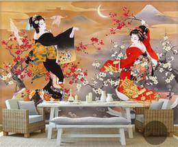 Wholesale Fiberglass Rolls - Japanese Design Photo Wallpaper Wall Mural 3D Wallpaper Rolls Shop Restaurant Wall Decorative papel mural papier peint mural 3d