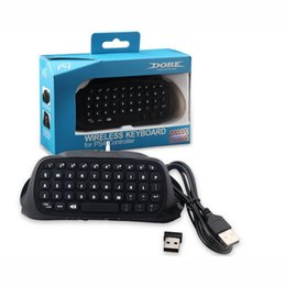 Para PlayStation 4 Dobe Mini Teclado Sem Fio Bluetooth Joystick Chatpad Mensagem Teclado 3.5mm Porta de Áudio Sem Fio No Pacote de Varejo de