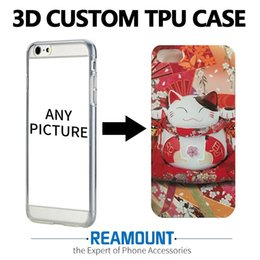 Wholesale Mobile Cover Back Paintings - 3D Stereo Relief Painting Soft Silicon Back Cover Case for Mobile Phone DIY Custom Case Colorful Coque for iphone 7 7plus