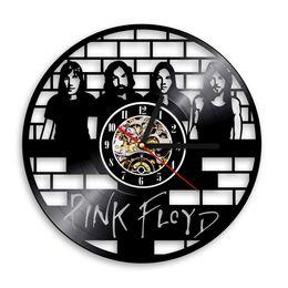 Wholesale Vintage Clock Art - Pink Floyd CD Vinyl Record 3D Wall Clock Muisc Group Art Unique Vintage Decorative Clock 12