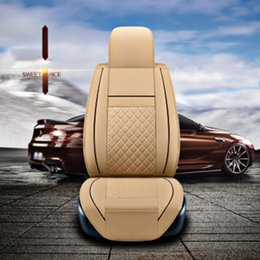 Wholesale Honda Fit Custom - car seat covers universal fit ALL car models seat cover Volkswagen Audi BMW Buick Ford Honda Toyota MG Leather custom auto accessories 03
