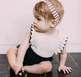 Wholesale Toddler Halloween Knitted Hats - Everweekend Baby Girls Knitted Rompers with Hats Candy Ruffles Sweater Overalls Toddler Kids Clothing Wholesale
