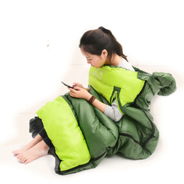 Wholesale Indoor Hand Warmer - Wholesale- Wind Tour Spring and autumn Warm Down thicker Outdoor Indoor Can Hand out Stitching able lovers Cotton sleeping bags