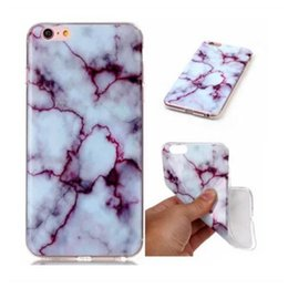 Wholesale Paint For Stone - For iphone 7 Retro Marble Patten Case Granite Stripe Rock Stone Design Image Painted Case TPU Cover for iphone7 plus iphone 6 6S Samsung S8