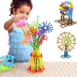 Wholesale Pc Intelligence - Wholesale- 205 PCS Plastic Building Blocks Puzzle Educational Intelligence Toy Development Child's Brain IQ Toys Models Building Kits