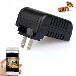 Wholesale Covert Ir - Mini HD 1080P WIFI Network DVR Covert Camera Adapter Plug IR Lamp Video Recorder IP Nanny Cam