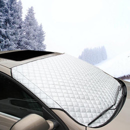 Wholesale Car Sun Shade Covers - Car Window Sunshade 142x92cm Auto Front Windshield Film Sun Reflective Cover Shade Thicken Foil UV Heat Protect Sheet