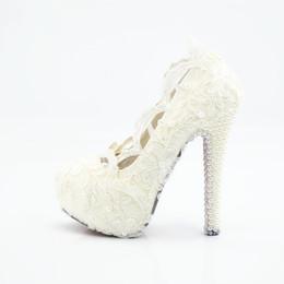 Wholesale High Heels 5cm - 2017 New Bridal Shoes Lace Wedding Shoes Cheap Price Wedding Shoes For Bride Appliques 5CM 8CM 11CM 14CM Heel