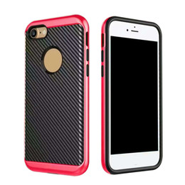 Wholesale Iphone Carbon White - For Samsung Note 8 iPhone X Motomo Case Carbon Fiber Cover For Iphone 6 6s 7 Plus Armor Shockproof Cover With OPPBAG