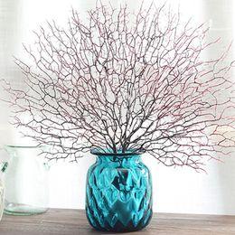 2019 tulipas artificiais laranja 45 cm ramo de árvore Artificial Branco Coral decorações de casamento Em Casa Ventilador Artificial Em Forma De Plástico Ramo Seco