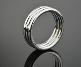 acciaio anello del pene Sconti Man's Penis Delay Toy Cock Rings di alta qualità in acciaio inox ritardante Eiaculazione Gay Gong prodotti di erezione Uomini Sextoys