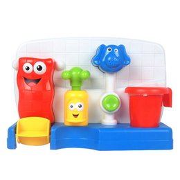Wholesale Soft Tap - Wholesale- Colorful Baby Bath Toys Soft Plastic Water Faucet Play Taps Spray Shower Kids Children Beach Toys Retail Package