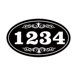 Wholesale House Signs Plaques - Car Styling For Personalized House Address Sign Vinyl Decal Sticker Plaque Aluminum Won't Fade Peel Or Chip Jdm Accessories