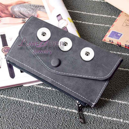 Wholesale Old Jewelry - Do the old style High Quality Bag Snap Button Purse Pu leather Wallet Bags Charms Fashion Jewelry for women fit 18mm button 20cm*10cm *0.5cm