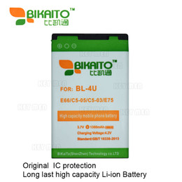 Wholesale E66 Phone - BL-4U Mobile Phone 3.7V 1380mah Battery For Nokia E66 C5-05 C5-03 E75