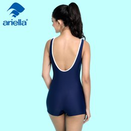 Wholesale Ladies Dress Skirt Suits - New 2017 Women Swimsuit Solid Push Up Skirted Bathing Suit Padded One Piece Beach Dress Sexy Ladies Swimwear