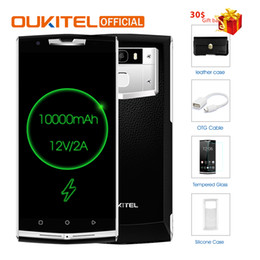 "Wholesale Charge Card Android - Oukitel K10000 Pro MT6750T Octa Core Android 7.0 3G RAM 32G ROM 5.5"" FHD 10000mAh 12V 2A Quick Charge Fingerprint ID Smartphone"