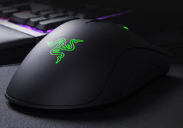 Wholesale Deathadder Mice - Top quality Razer Death Adder Mouse(Upgrade) 3500DPI Competitive games mice razer deathadder Factory Offer with retail package free shipping